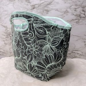 Fit & Fresh Mint Green Paisley Insulated Lunch Bag
